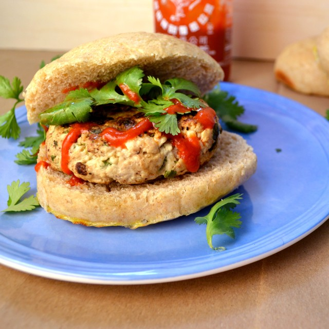 Feta Cilantro Turkey Burgers | windykitchen