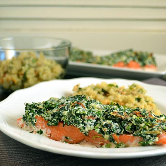Red Pepper Spinach Ricotta Salmon | windykitchen