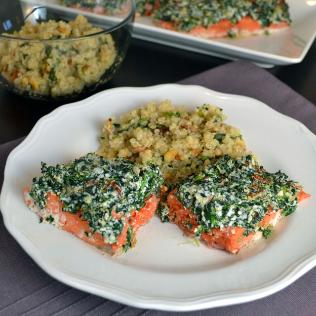 Red Pepper Spinach Ricotta Salmon | windykitchen