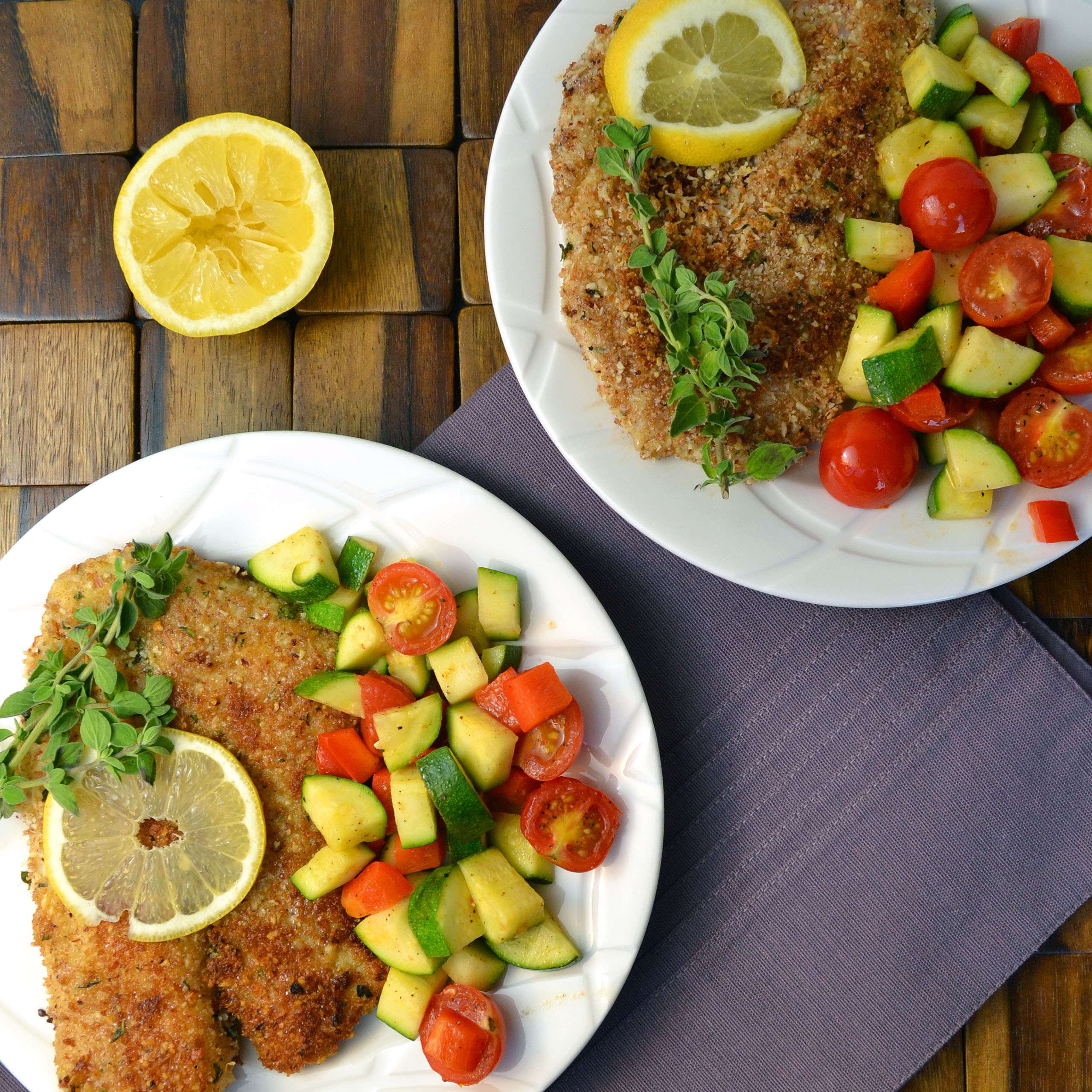 Almond crusted tilapia with veggies windykitchen for What sides go with fish