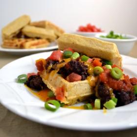 Cornbread Waffle Tacos | windykitchen