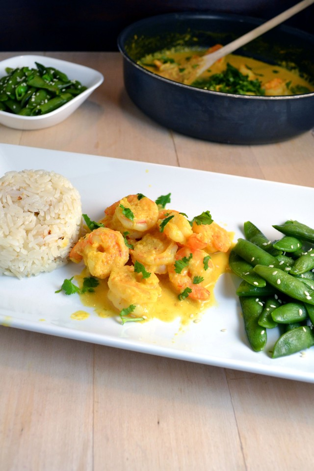 Shrimp in Yellow Sauce with Coconut Rice | windykitchen
