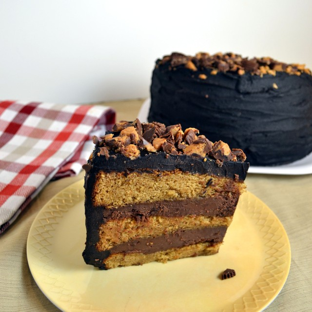 Chocolate Peanut Butter Reese's Cake | windykitchen