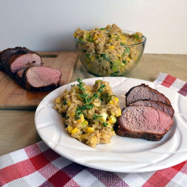 BBQ Spiced Pork with Corn Risotto | windykitchen