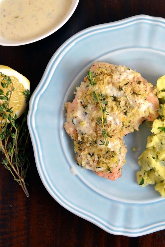 Crunchy Mustard Glazed Chicken with Fennel Potatoes | windykitchen