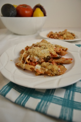 Baked Eggplant Penne with Capers | windykitchen
