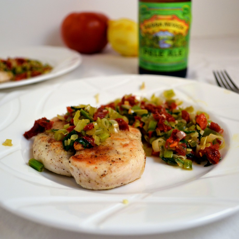 Chicken with Leeks and Sundried Tomatoes