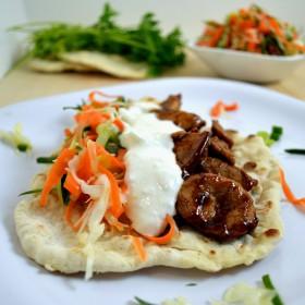 Asian Pork Flatbread Tacos | windykitchen