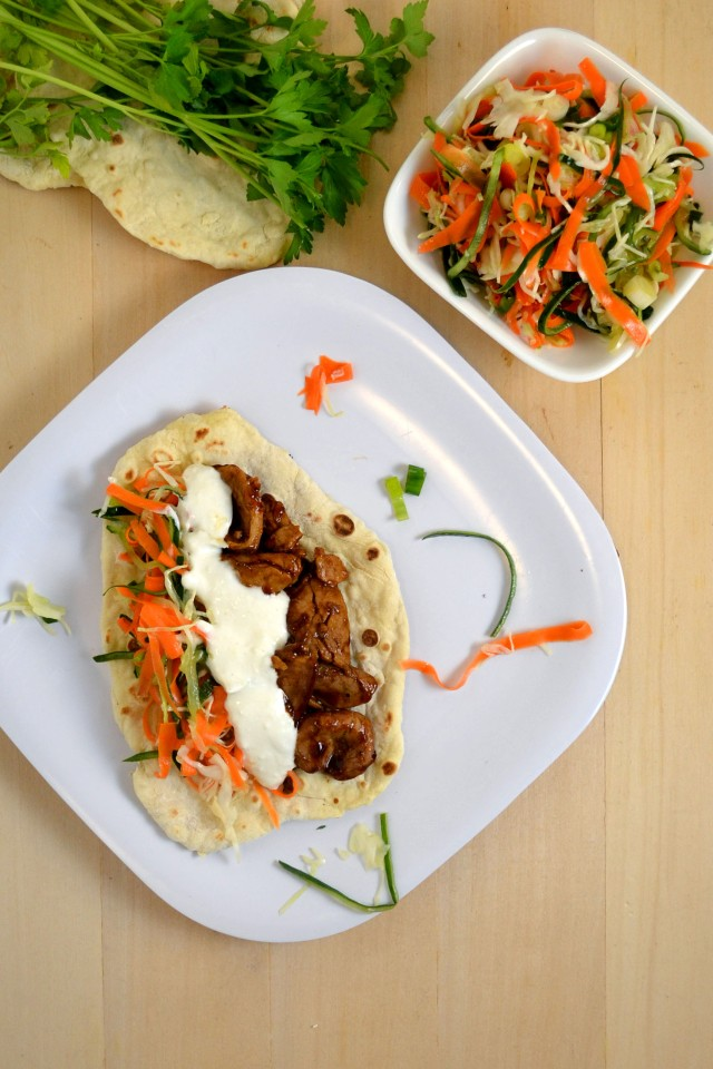 Asian Pork Flatbread Tacos | windykitchen
