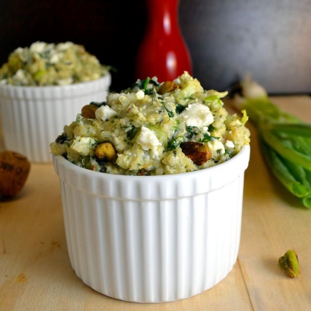 Feta-Herb Quinoa with Spinach | windykitchen