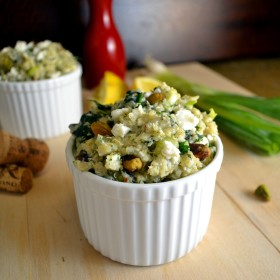 Feta-Herb Quinoa with Spinach   windykitchen