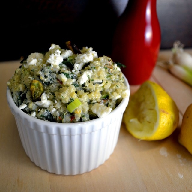 Feta-Herb Quinoa with Spinach | windykitchen