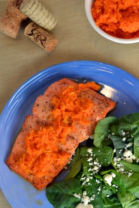 Crispy Salmon with Carrot Ginger Relish | windykitchen
