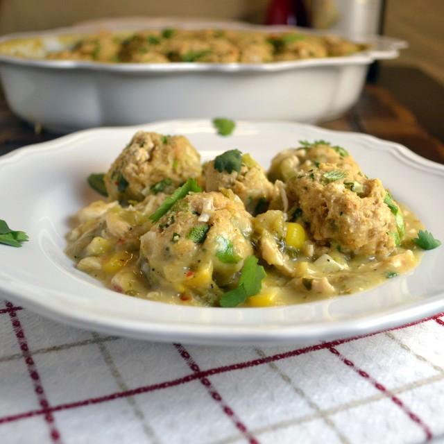 Salsa Verde Chicken and Dumplings | windykitchen