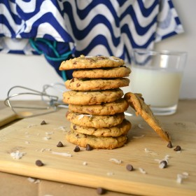 Toffee Toasted Coconut Cookies | windykitchen
