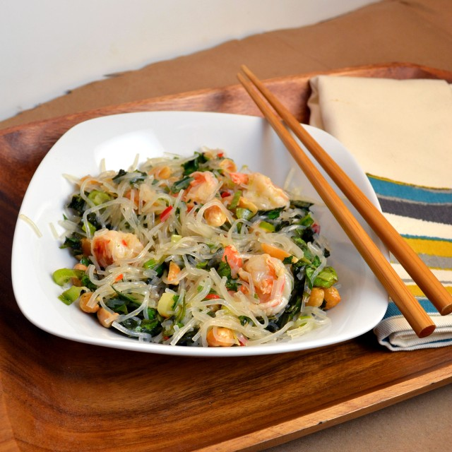 Spicy Shrimp Salad with Cellophane Noodles | windykitchen
