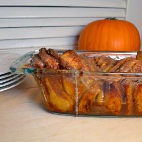 Cinnamon-Sugar Pumpkin Pull Apart Bread | windykitchen