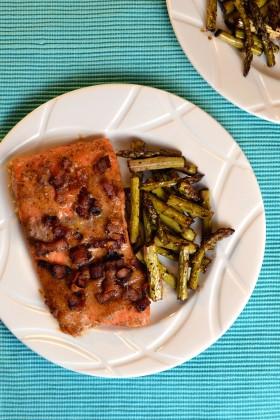 Maple Dijon Bacon Salmon | windykitchen