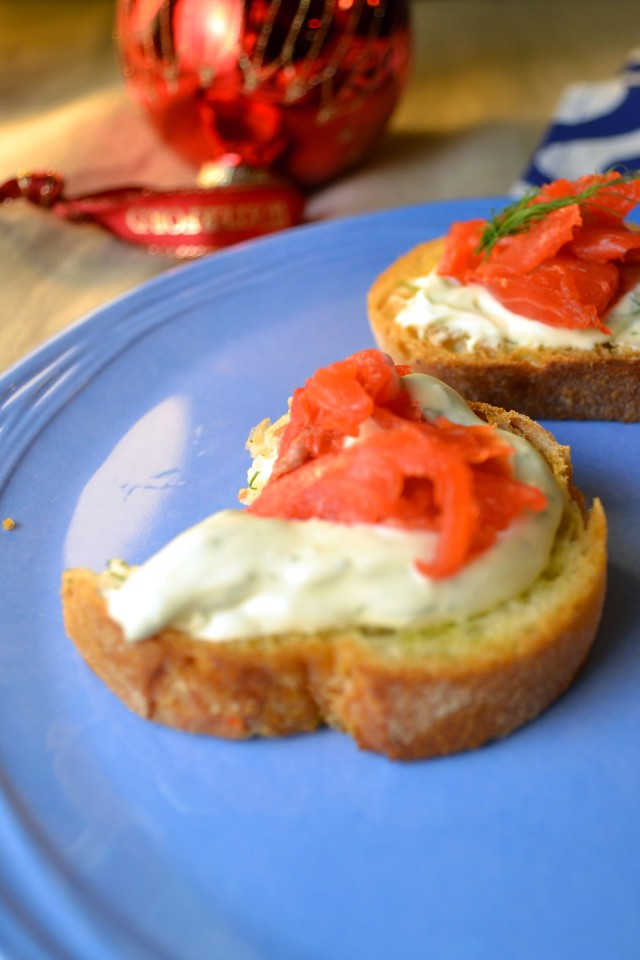 Smoked Salmon and Dill Crostini | windykitchen