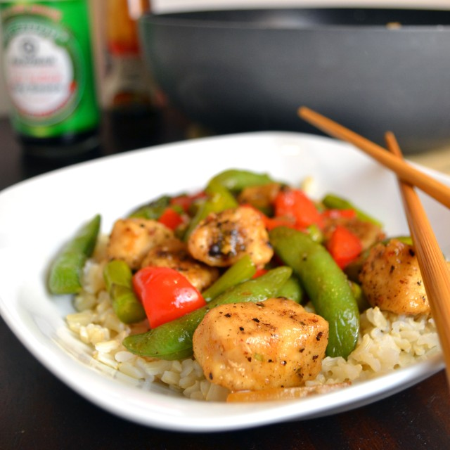 BLACK PEPPER CHICKEN STIR FRY (slightly adapted from Curry and Comfort ...