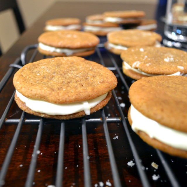 Ginger Spice Sandwich Cookies with Lemon Filling | windykitchen