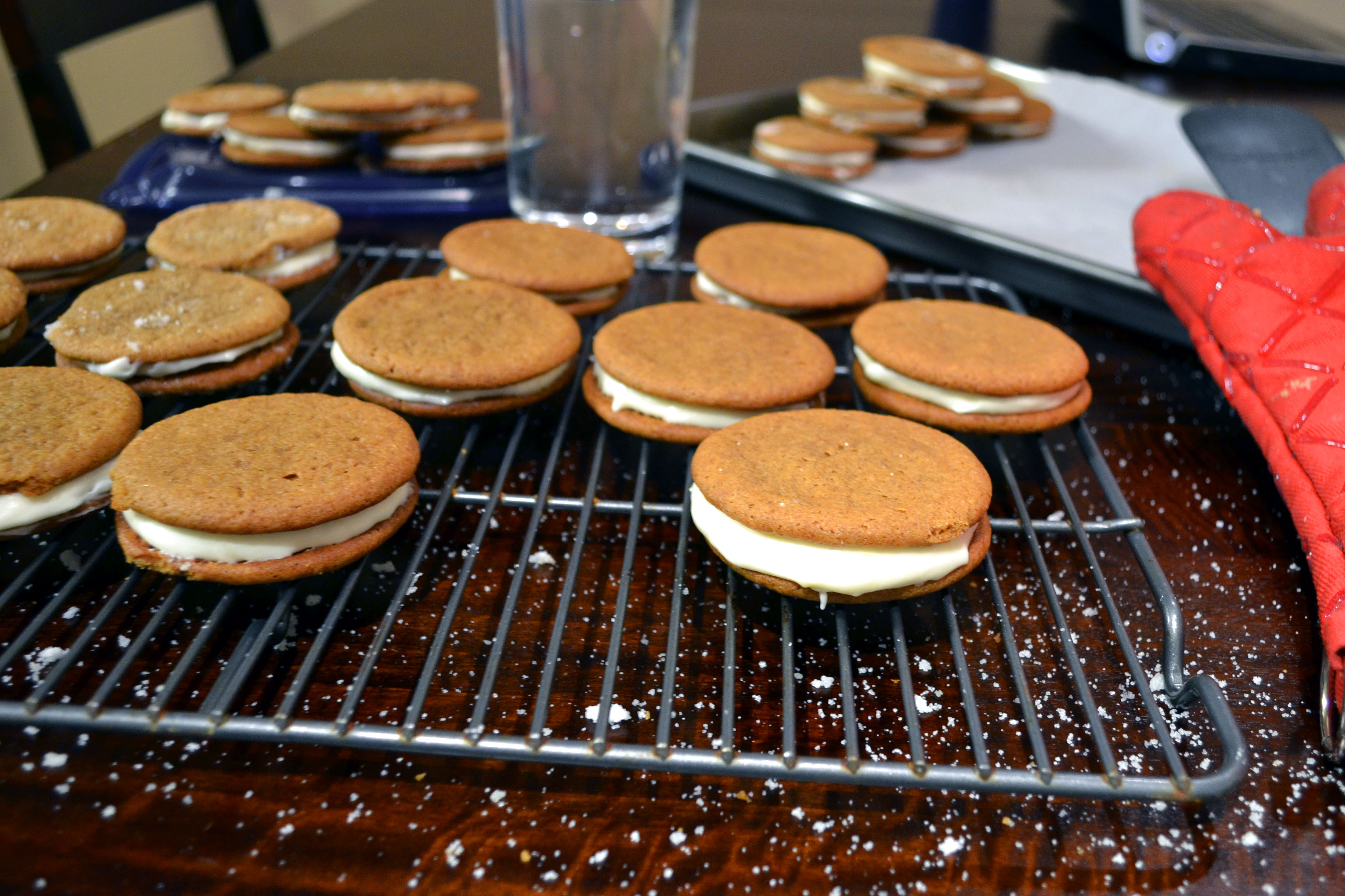 Ginger Spice Sandwich Cookies with Lemon Cream Filling ...