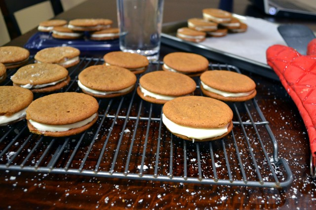 Ginger Spice Sandwich Cookies with Lemon Cream Filling | windykitchen