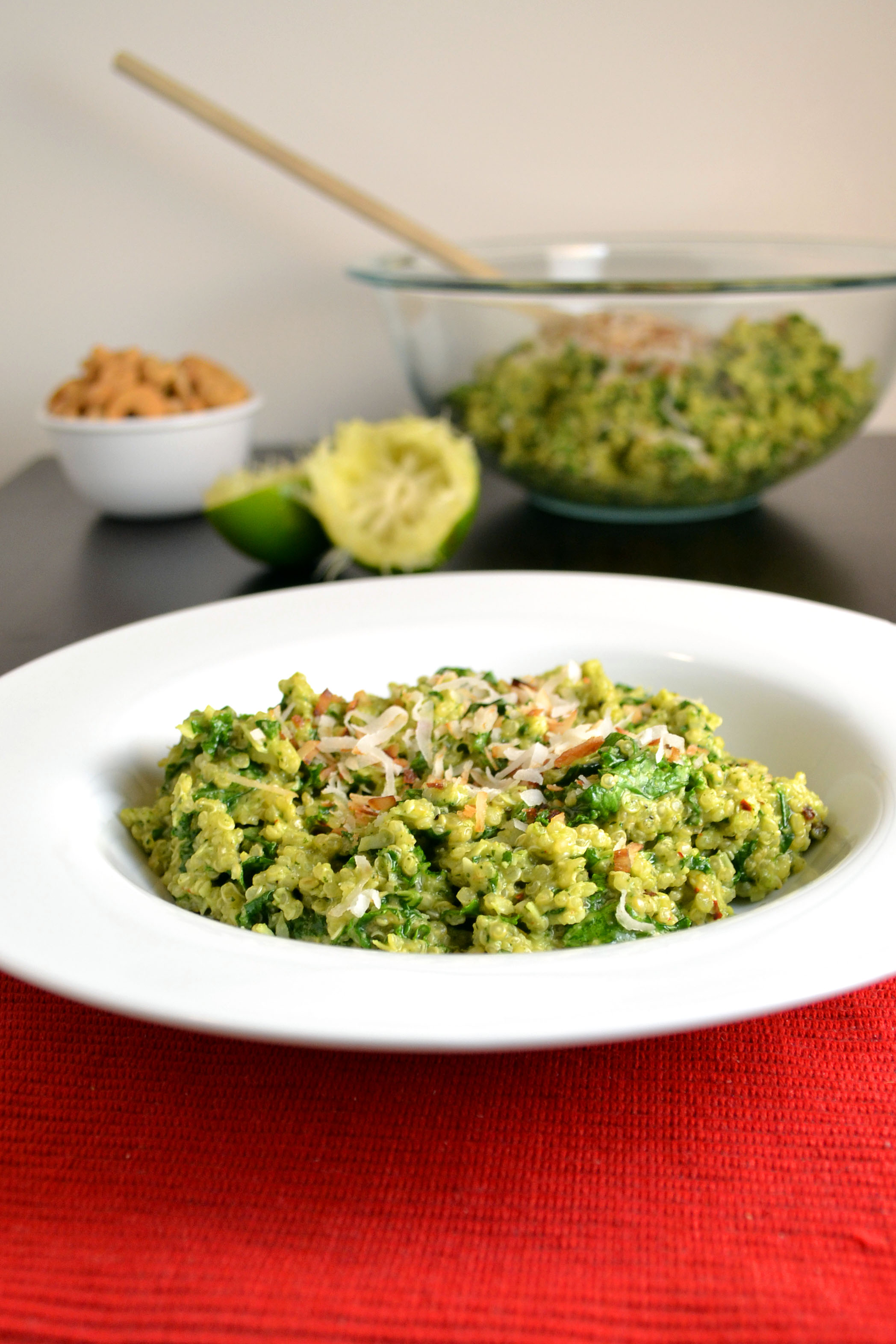 Coconut Quinoa And Kale With Tropical Pesto Recipe — Dishmaps