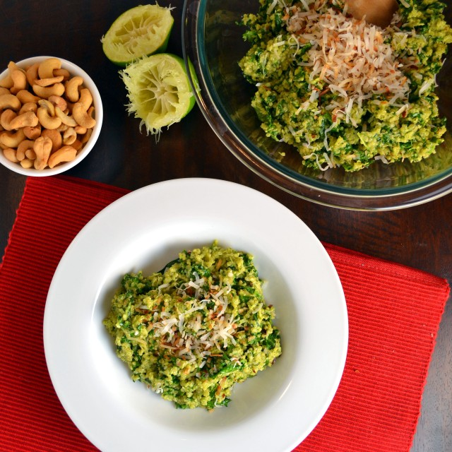 Coconut Quinoa with Kale and Tropical Pesto | windykitchen