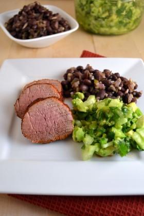 Cumin-Spiced Pork with Tomatillo-Avocado Salsa | windykitchen