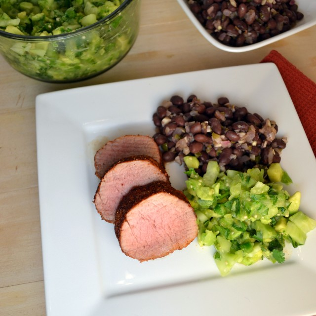 Cumin-Spiced Pork with Tomatillo-Avocado Salsa | windykitchen