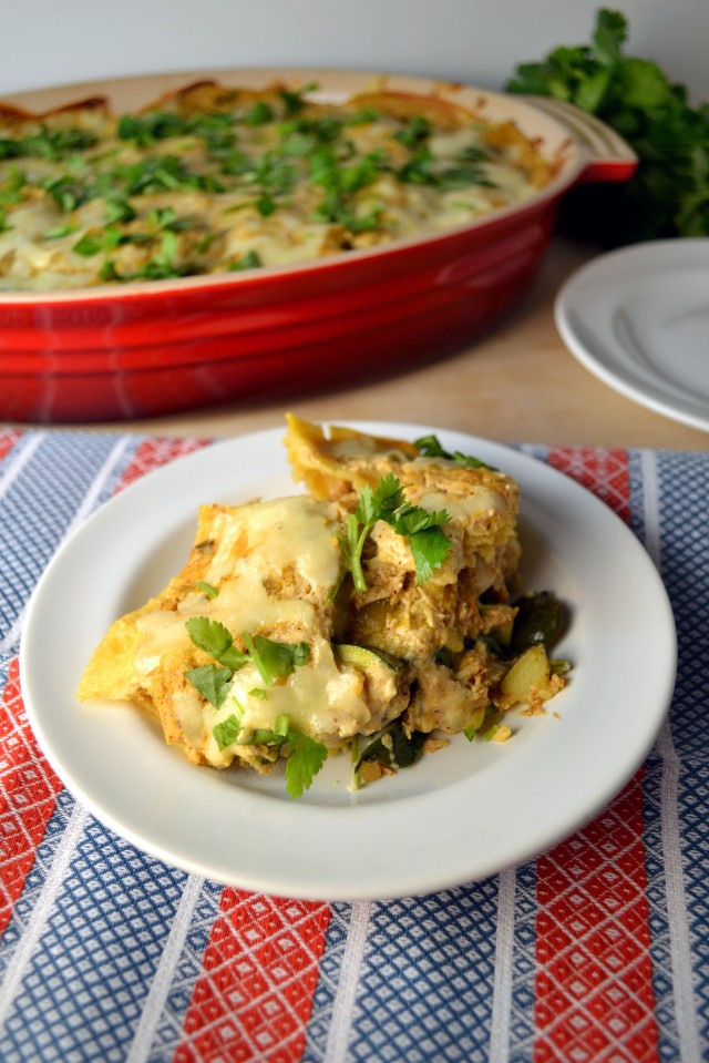 Stacked Green Enchilada Bake | windykitchen