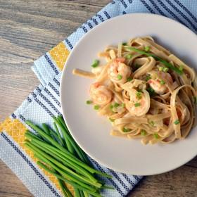 Lemon Garlic Linguine with Shrimp and Mascarpone | windykitchen
