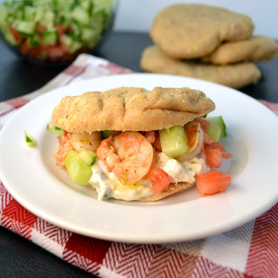 Greek Shrimp Gyros