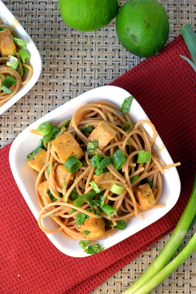 Tofu with Noodles and Peanut-Lime Dressing | windykitchen