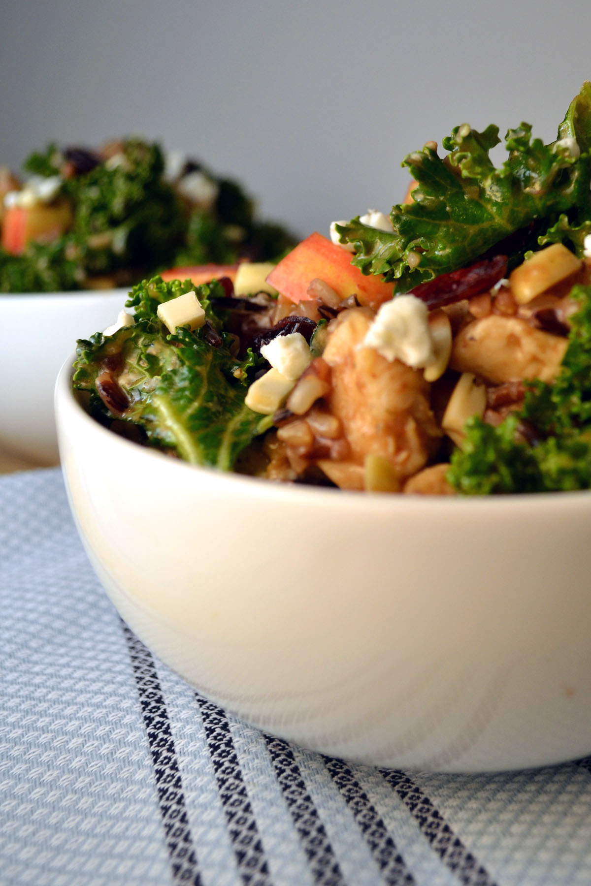 Kale, Wild Rice, and Chicken Bowls with Honey-Balsamic Dressing ...