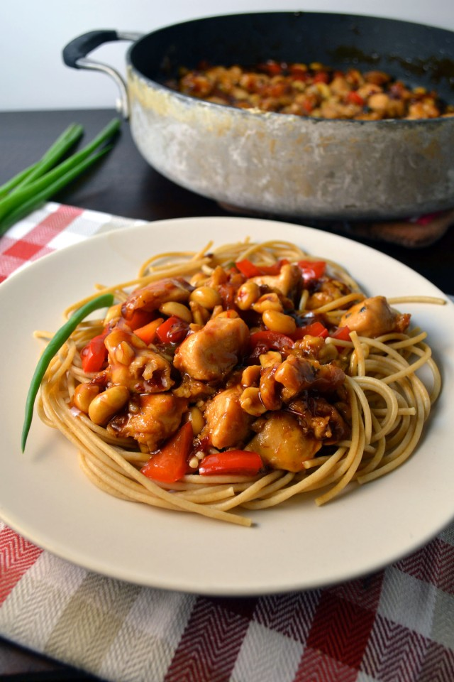 Kung Pao Chicken Spaghetti | windykitchen