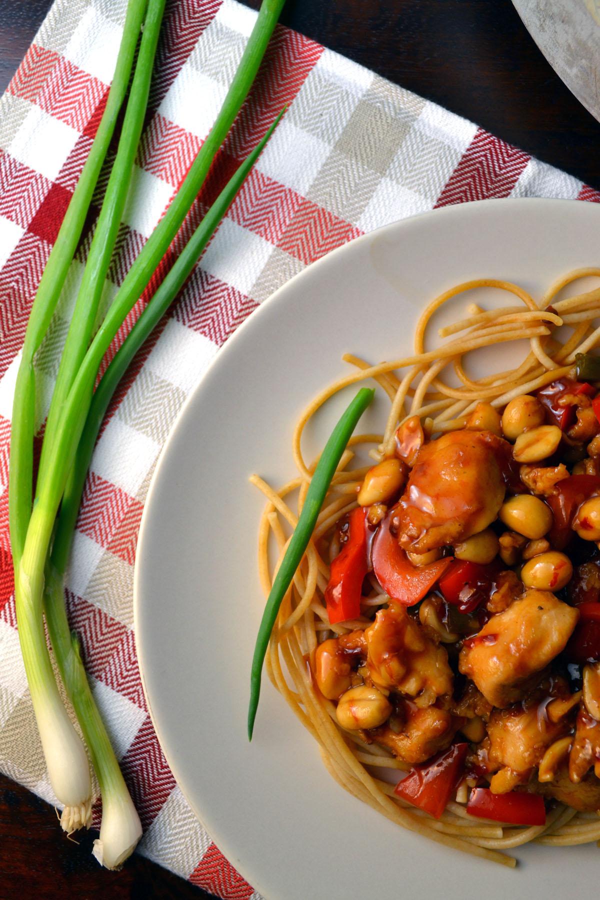 Kung Pao Chicken Spaghetti windykitchen