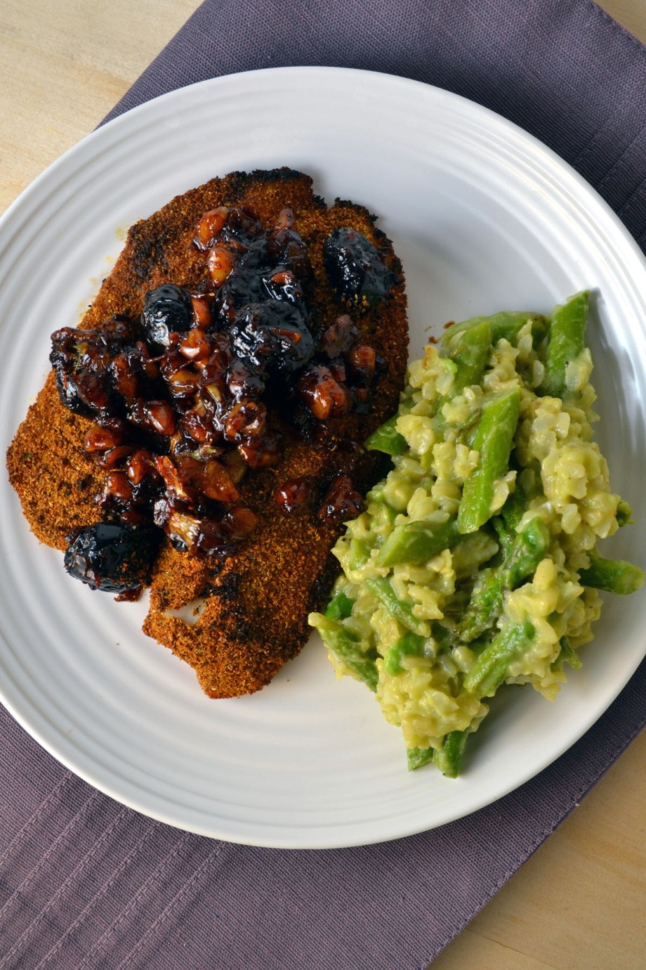 Indian-Spiced Tilapia with CherryChutney
