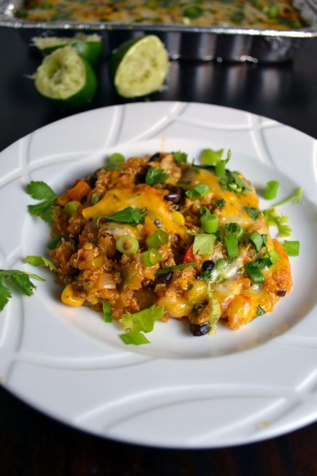 Black Bean Quinoa Enchilada Bake | windykitchen