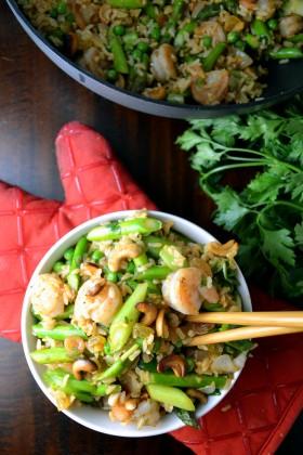 Thai Shrimp and Asparagus Stir Fry with Cashews | windykitchen