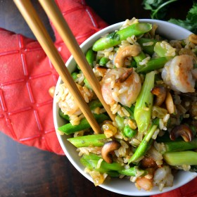 Thai Shrimp and Asparagus Stir Fry with Cashews | windykitchen