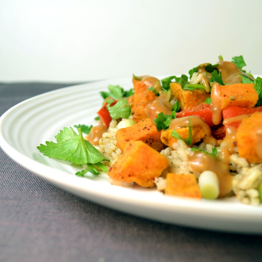 Meatless Monday: Spicy Thai Sweet Potatoes with BrownRice