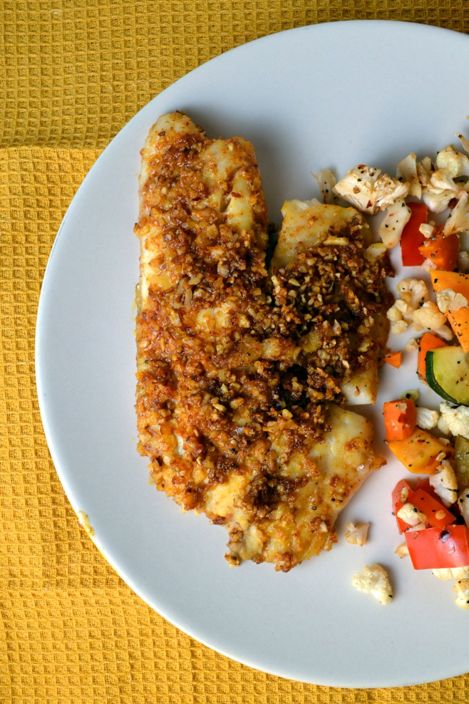 Dijon Almond-Crusted Tilapia